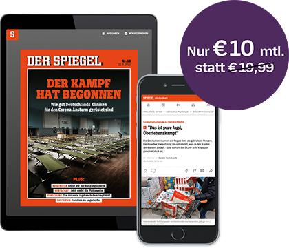SPIEGEL+ 50% Rabatt für drei Monate