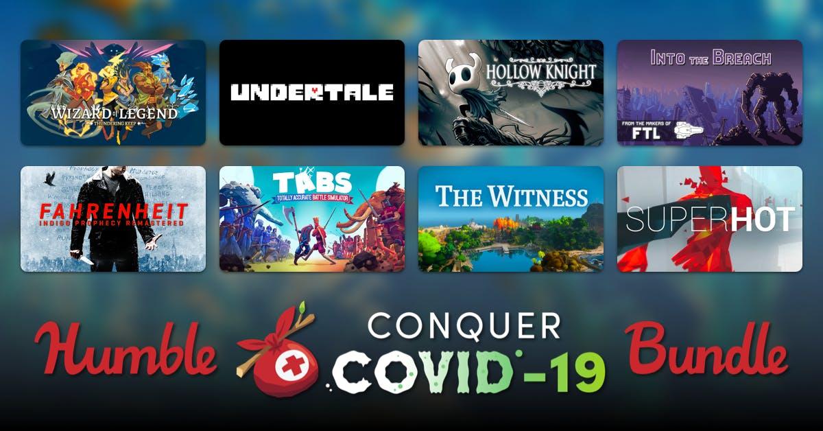 HUMBLE CONQUER COVID-19 BUNDLE mit 45 Steam Spielen (u.a. Hollow Night, Superhot, Undertale, Lego Batman uvm.)
