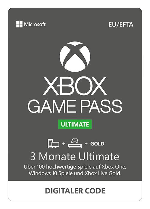 MediaMarkt Guthabenkarten: XBOX GAME PASS ULTIMATE - 3 Monate zahlen, 6 Monate erhalten