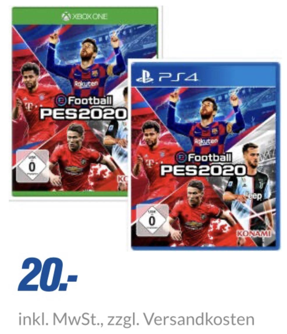 PES 2020 für Xbox One PS4 für je 23,99€ inkl. Versandkosten