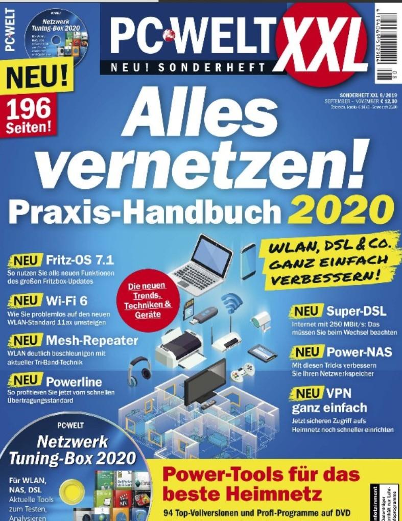 """PC-Welt XXL """"Alles vernetzen! Praxis Handbuch 2020"""" (08/2019) als PDF kostenlos herunterladen"""