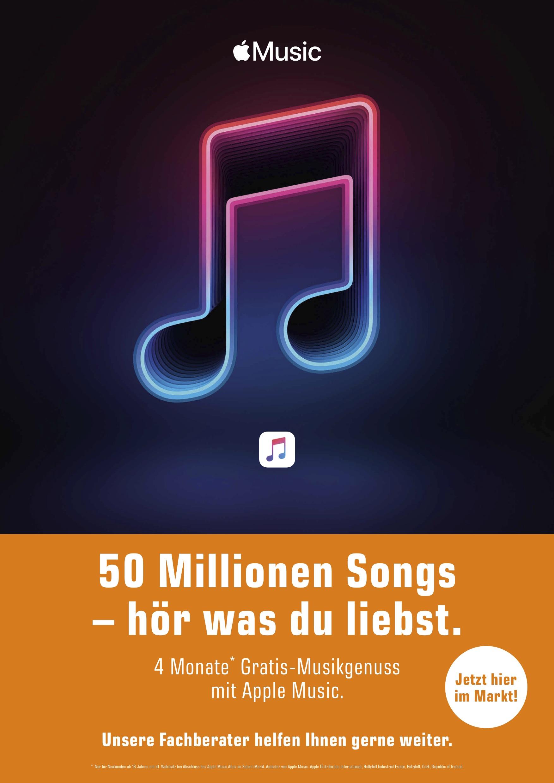 Apple Music - 4 Monate Kostenlos - auch wenn schonmal Probeabo hatte
