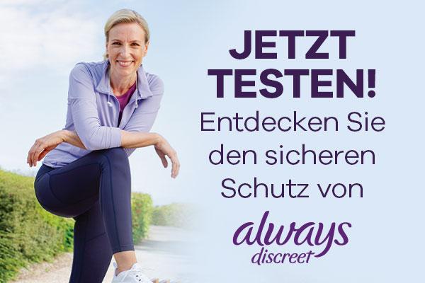 Always Discreet gratis testen - 100% Geld zurück