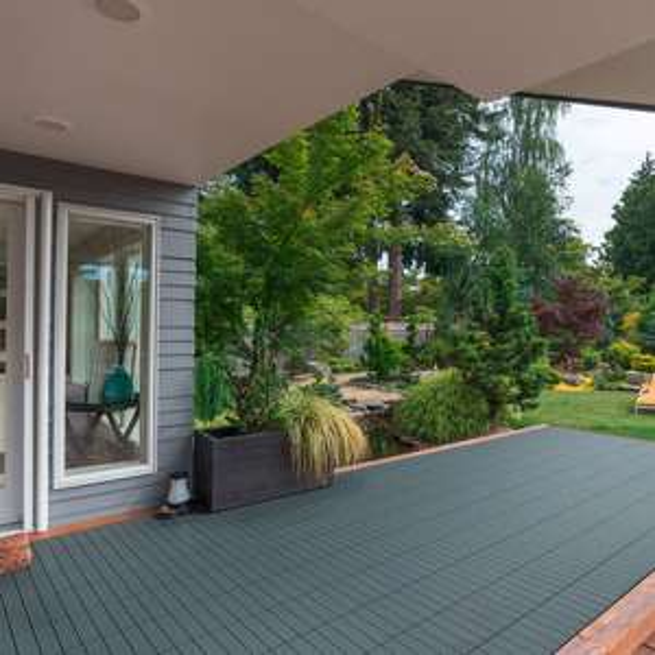 WPC Holz-Terassenfliesen Home Deluxe, Holzoptik, 3m² -Paket