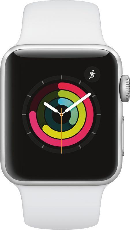 Apple Watch Series 3 GPS, 38mm Alu weisses Armband - Silber