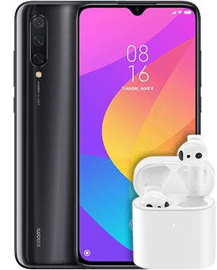 "Xiaomi Mi 9 Lite schwarz 6/128GB (6,39"" AMOLED, SD710, NFC, Klinke, 4030mAh, AnTuTu 217k) + Airdots Pro 2"