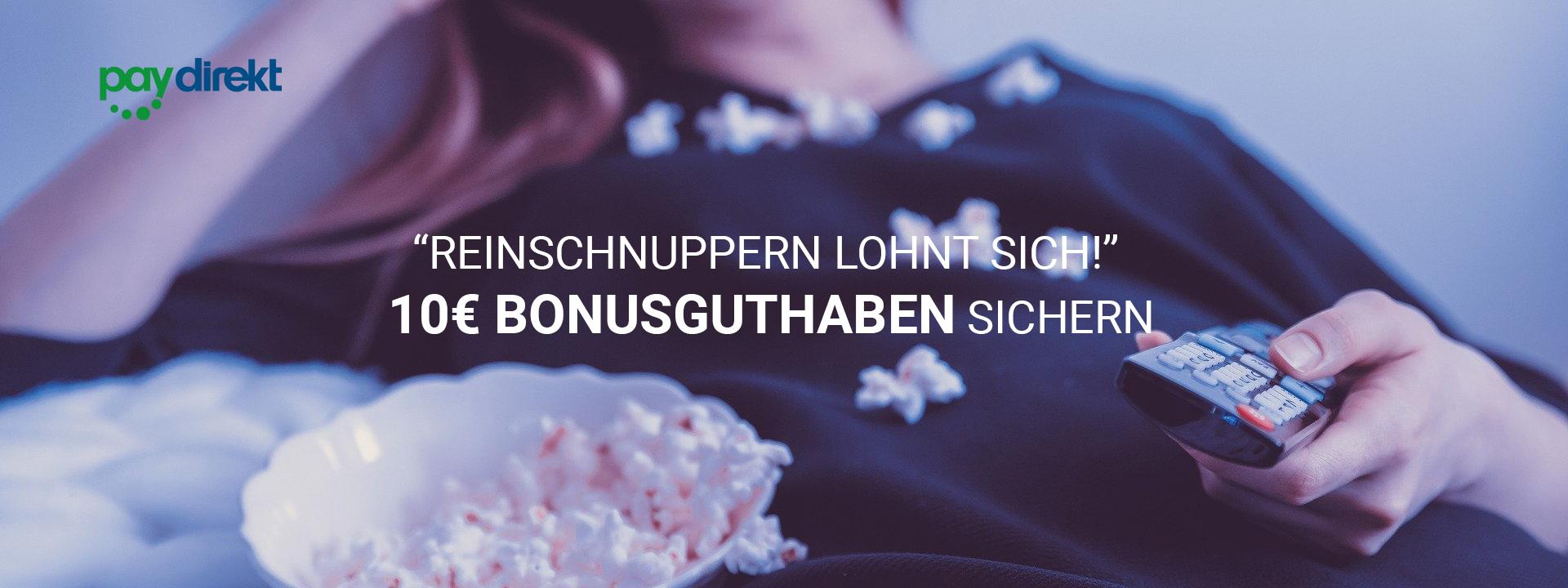 Cineplex Home 10€ geschenkt, wenn 10€ per paydirekt aufgeladen werden