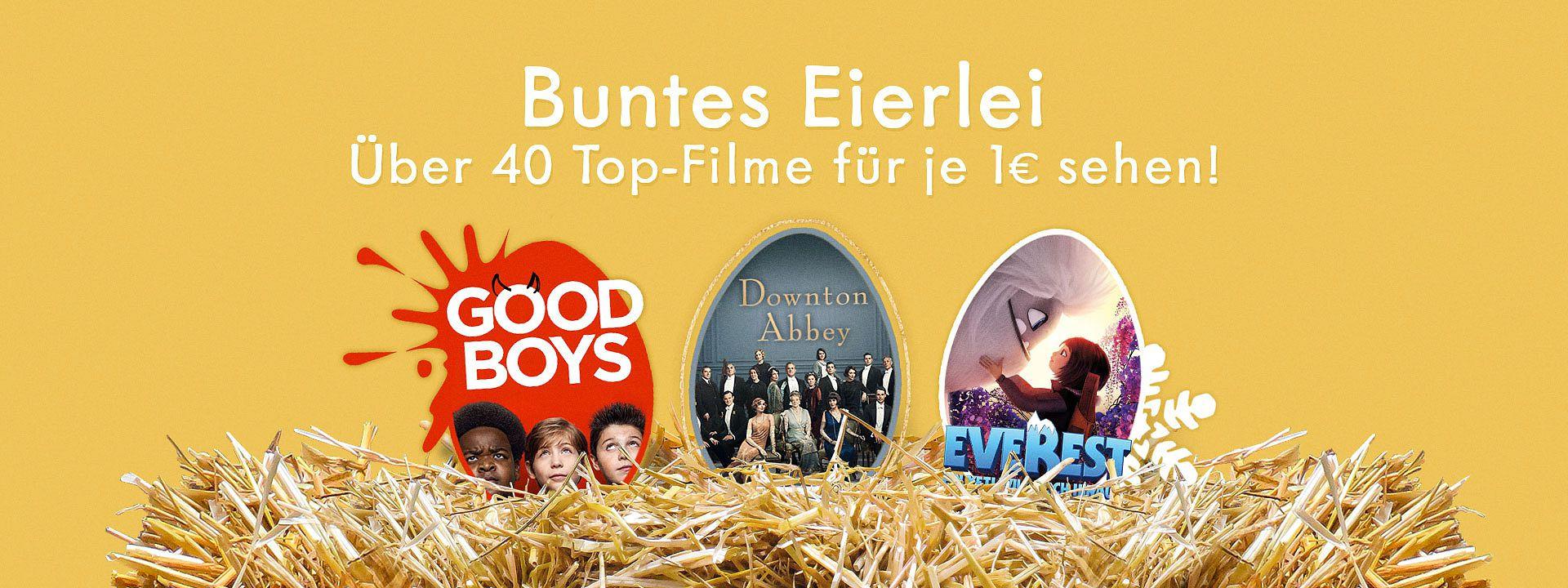 Videociety 40+ Familienfilme zum Streamen für je 1 € (Everest, Downton Abbey, Good Boys, Mister Link u.a) ||10 € Paydirekt Bonusguthaben