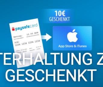 15€ App Store & iTunes Guthaben für 5€ mit paysafecard (Neukunden) Osteraktion