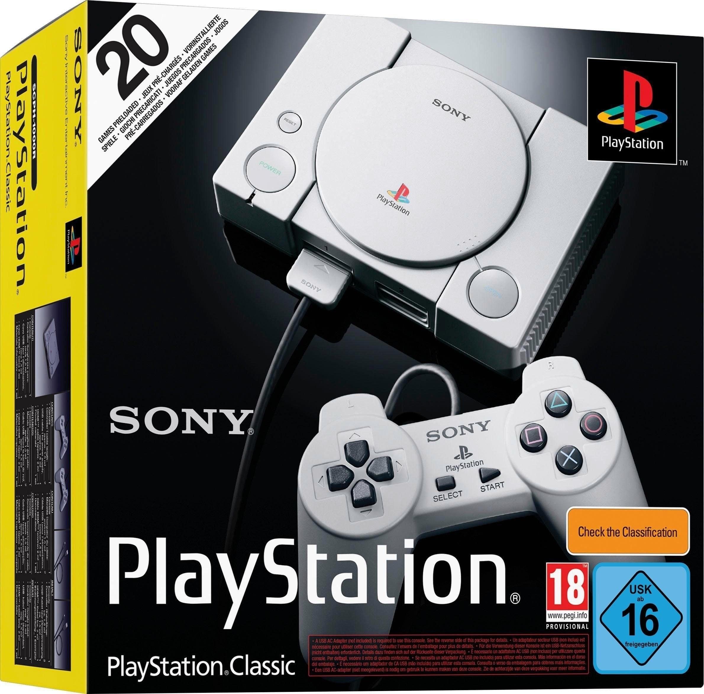 [B-Ware] Sony Playstation Classic Mini Konsole inkl. 20 Spiele + 2 Controller