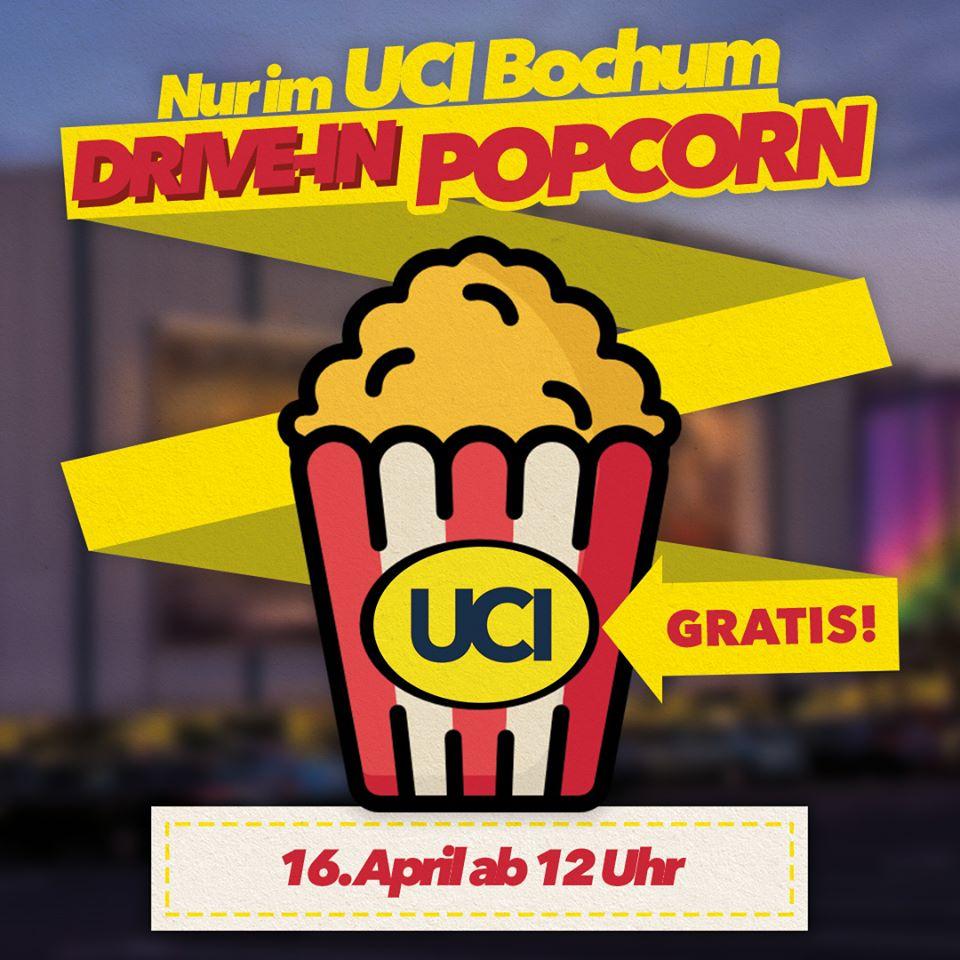 UCI Bochum - Gratis Popcorn zur Abholung am 16.04. (eigenes Gefäß mitbringen)