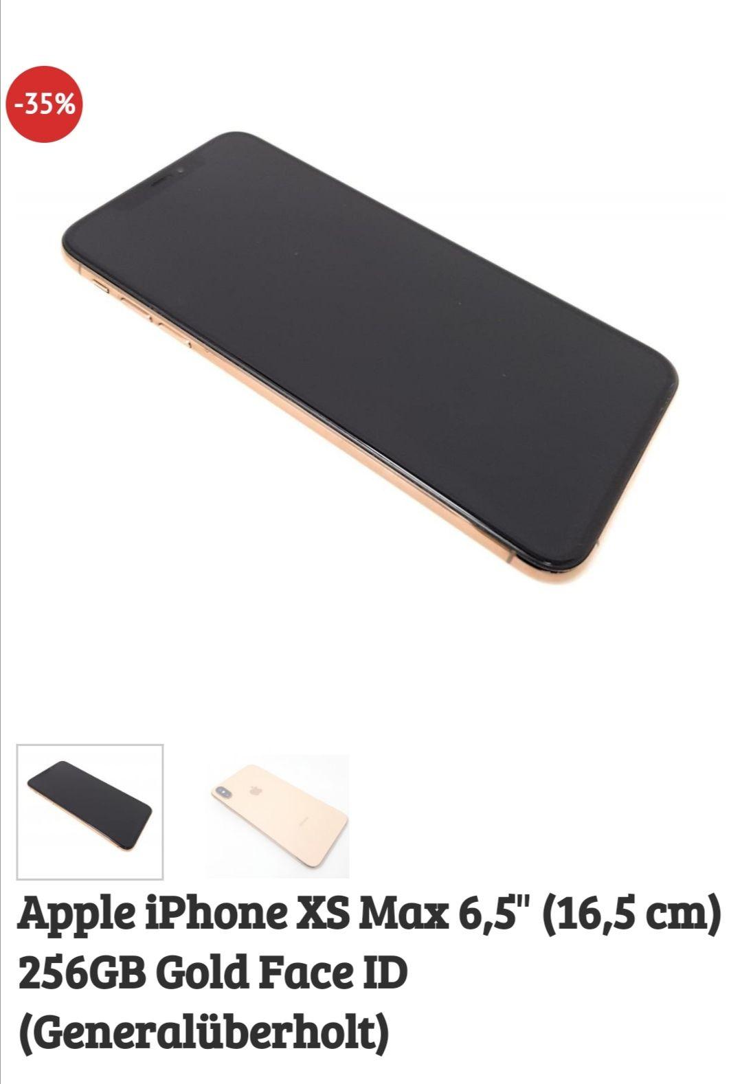 Apple iPhone XS Max 256gb Gold refurbished 24 Monate Gewährleistung @Dealclub