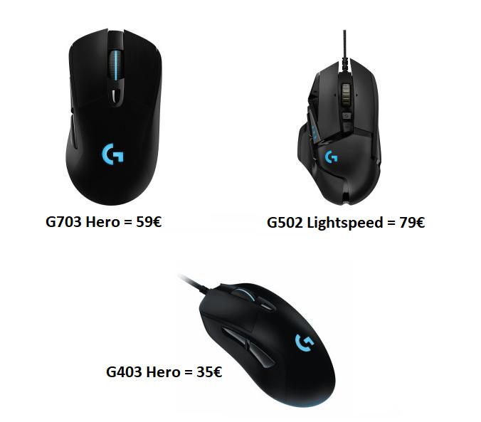 [Saturn & Amazon] Logitech G703 Hero 16K Gaming-Maus für 59€   G403 Hero für 35€   G502 Lightspeed Wireless für 79€