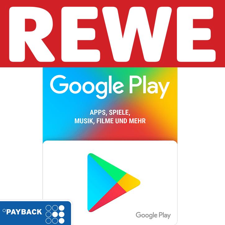 [Rewe] Google Play Geschenkkarten: 1250 extra Payback Punkte auf 100€ und 500 Punkte extra auf 50€
