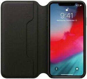 Apple Leder Folio für iPhone XS Max in schwarz