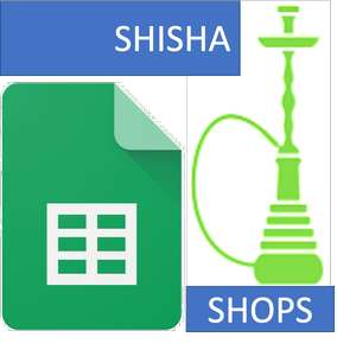 Shisha / Hookah Shops Online - Übersicht / Gutscheine / Versand in Google Tabelle