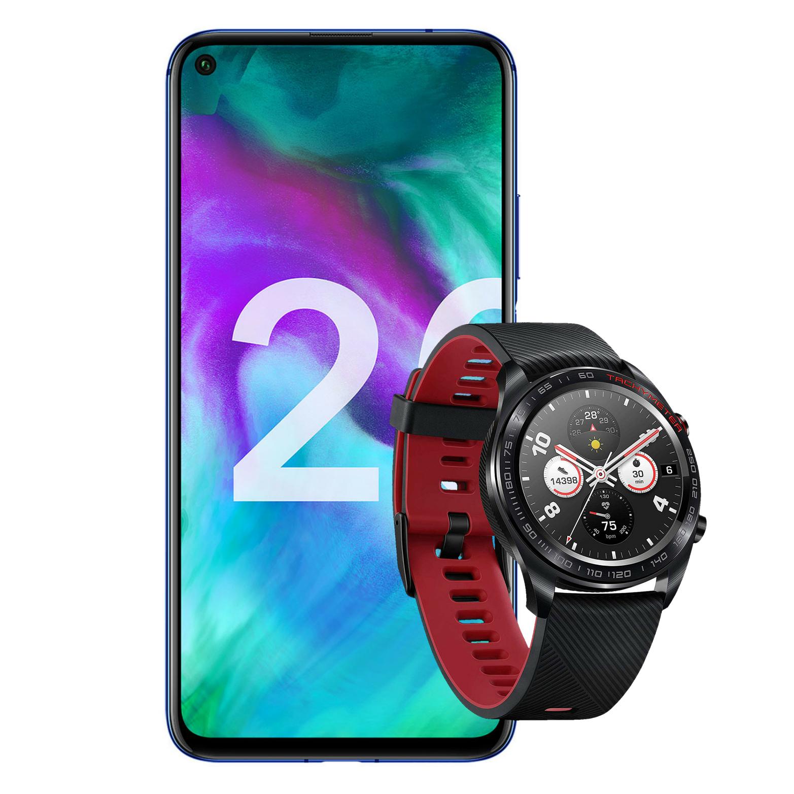 "Honor 20 128/6GB Smartphone (6,26"" Display, 48MP/16MP/2MP, 376K Antutu) + Magic Watch Smartwatch (VGP 89€)"