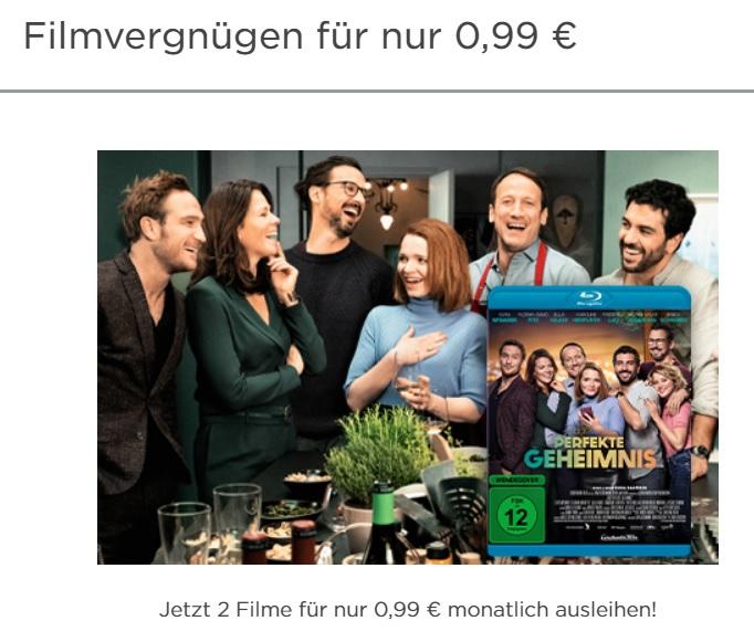 2x 4K UHD, (3D)- Blu Ray oder DVD Filme aus dem kompletten Videobuster.de Sortiment leihen für 0,99 € inklusive Versand