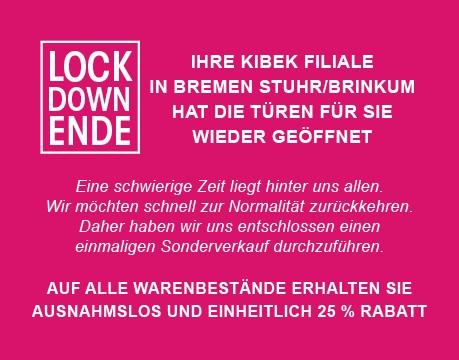 Kibek 25% auf Alles [Lokal: Bremen, Hannover, Kassel, Recklinghausen]