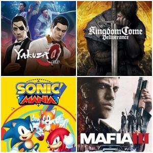 Kingdom Come: Deliverance, Yakuza 0, Sonic Mania & Mafia III (Xbox One) kostenlos spielen (Xbox Store Live Gold)