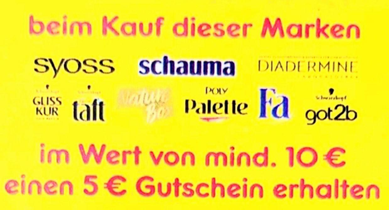 Min. 10€ kaufen und 5€ Gutschein bekommen z.B. Taft, Syoss, Schauma, etc. [Netto ab 04.05.]