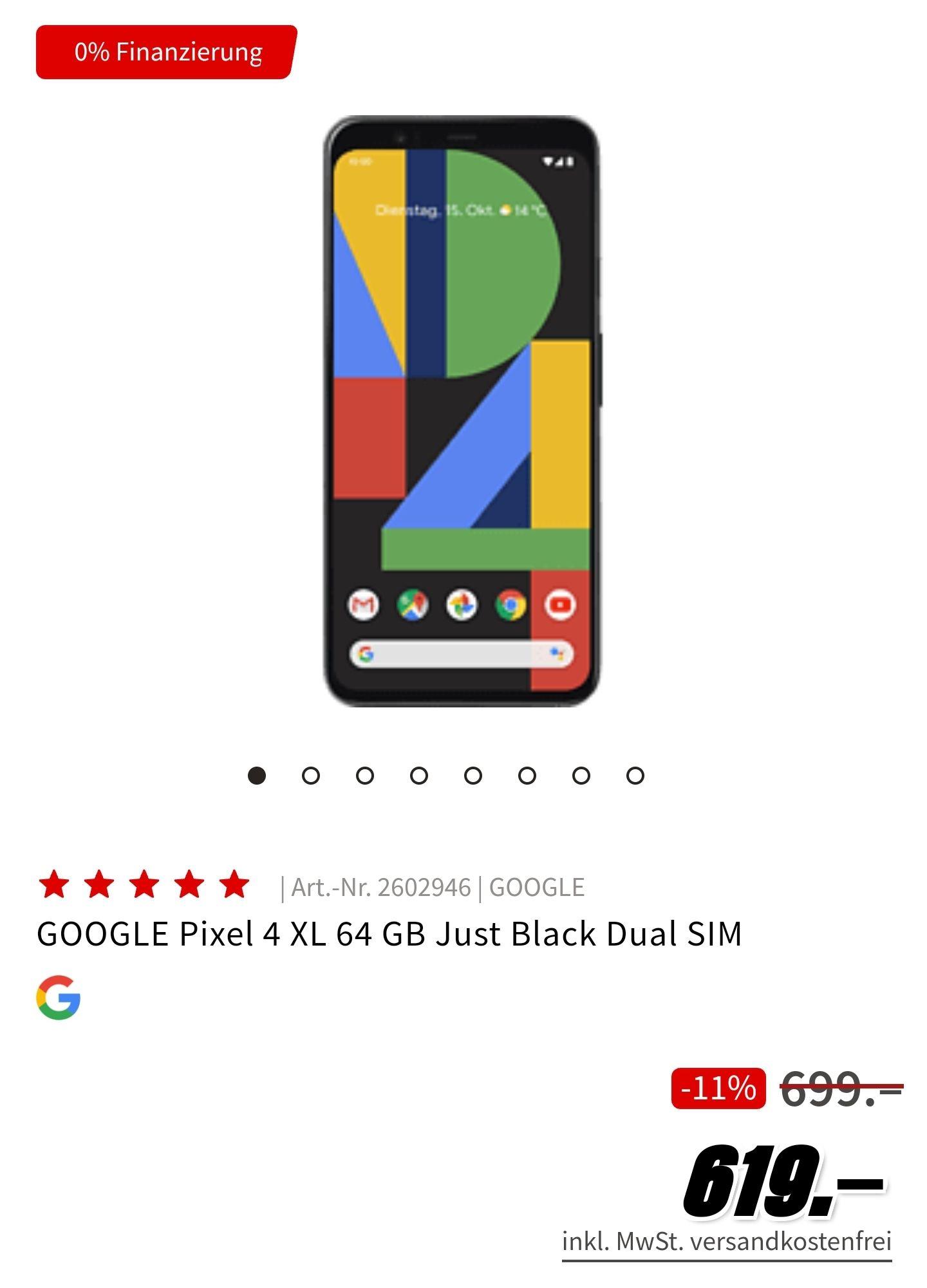GOOGLE Pixel 4XL bei Media Markt