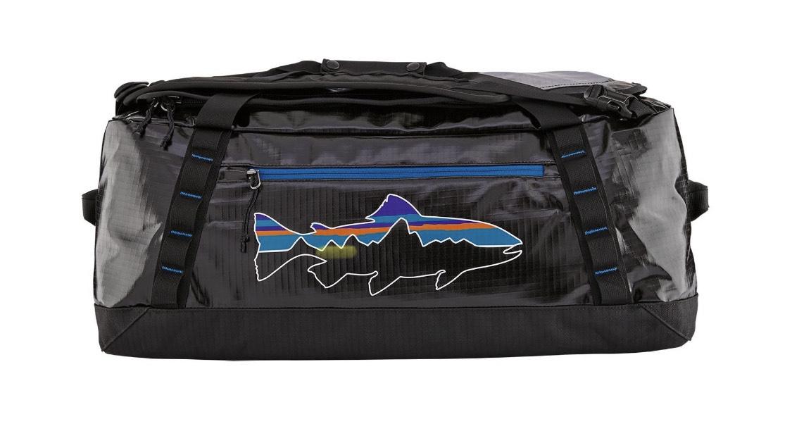 PATAGONIA BLACK HOLE DUFFEL 55L (Black/Fitz trout)