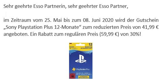 Playstation Plus 12 Monate (DE)