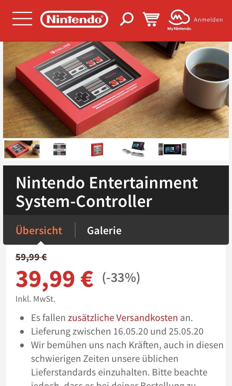 Nintendo Entertainment Controller - NES Controller