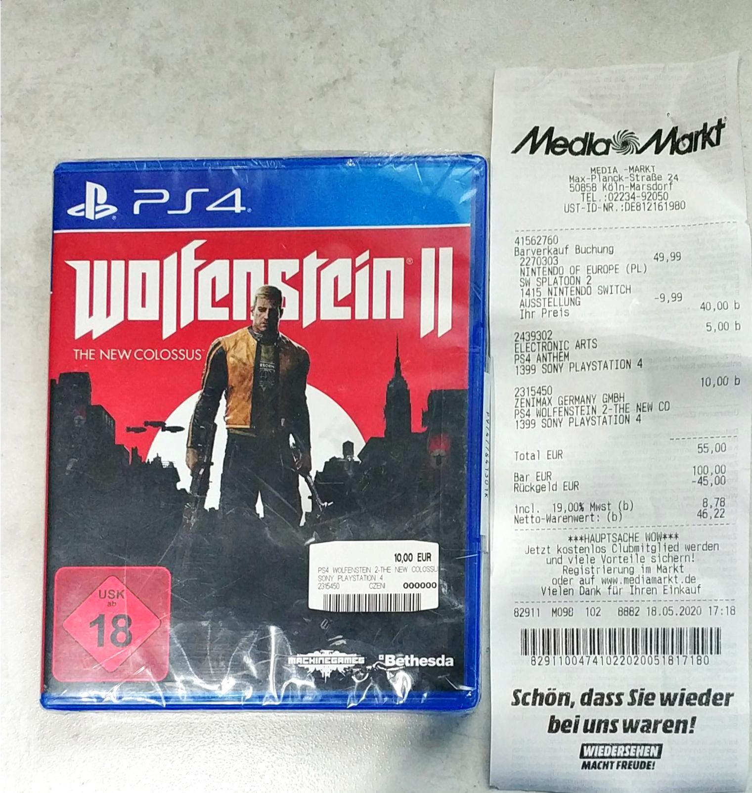 Wolfenstein II The new colossus *PS4 (Lokal MM Köln Marsdorf)