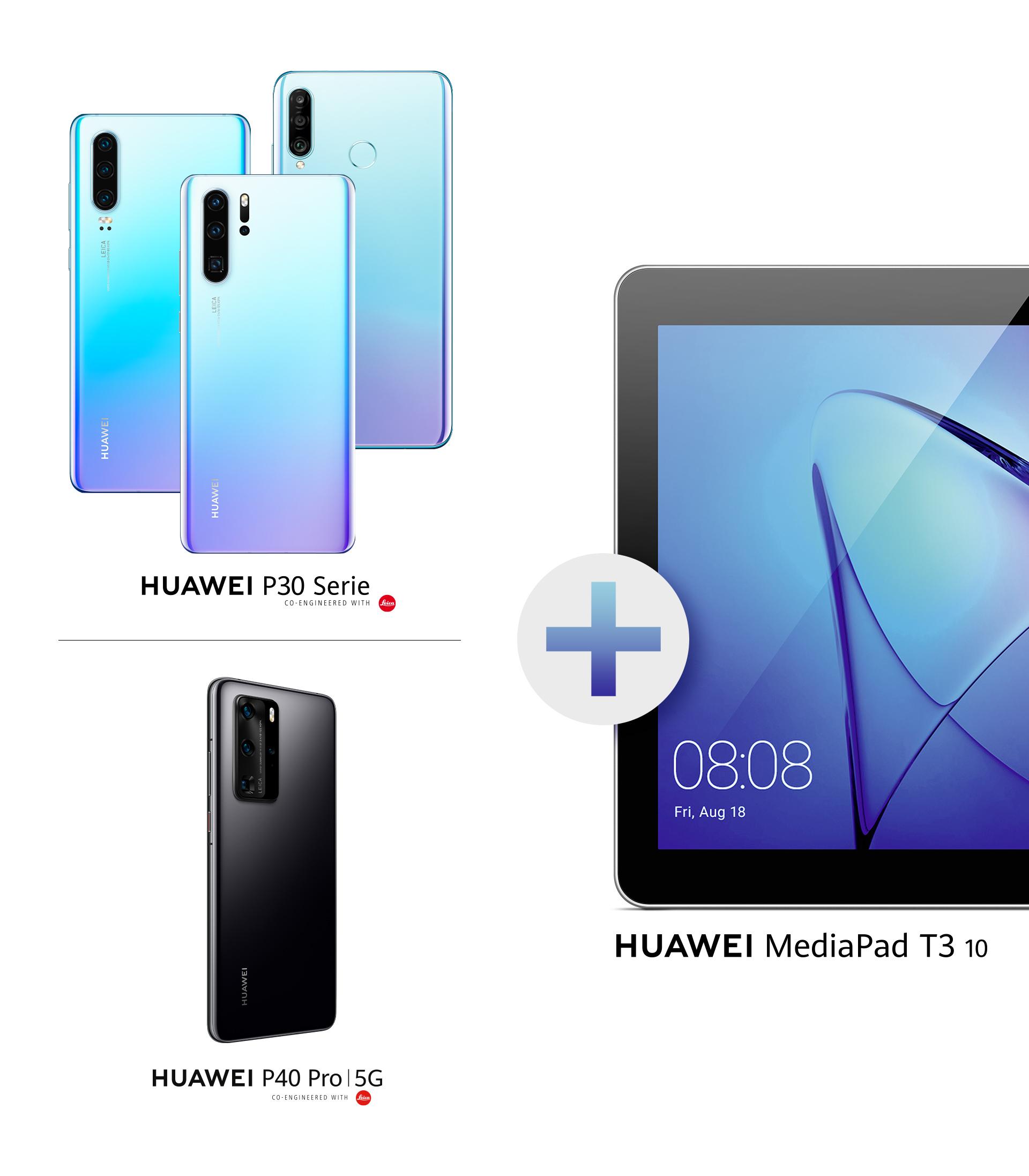 HUAWEI P30 lite NE + T3 Mediapad Tablet mit Case für 300 € - auch andere Deal möglich!