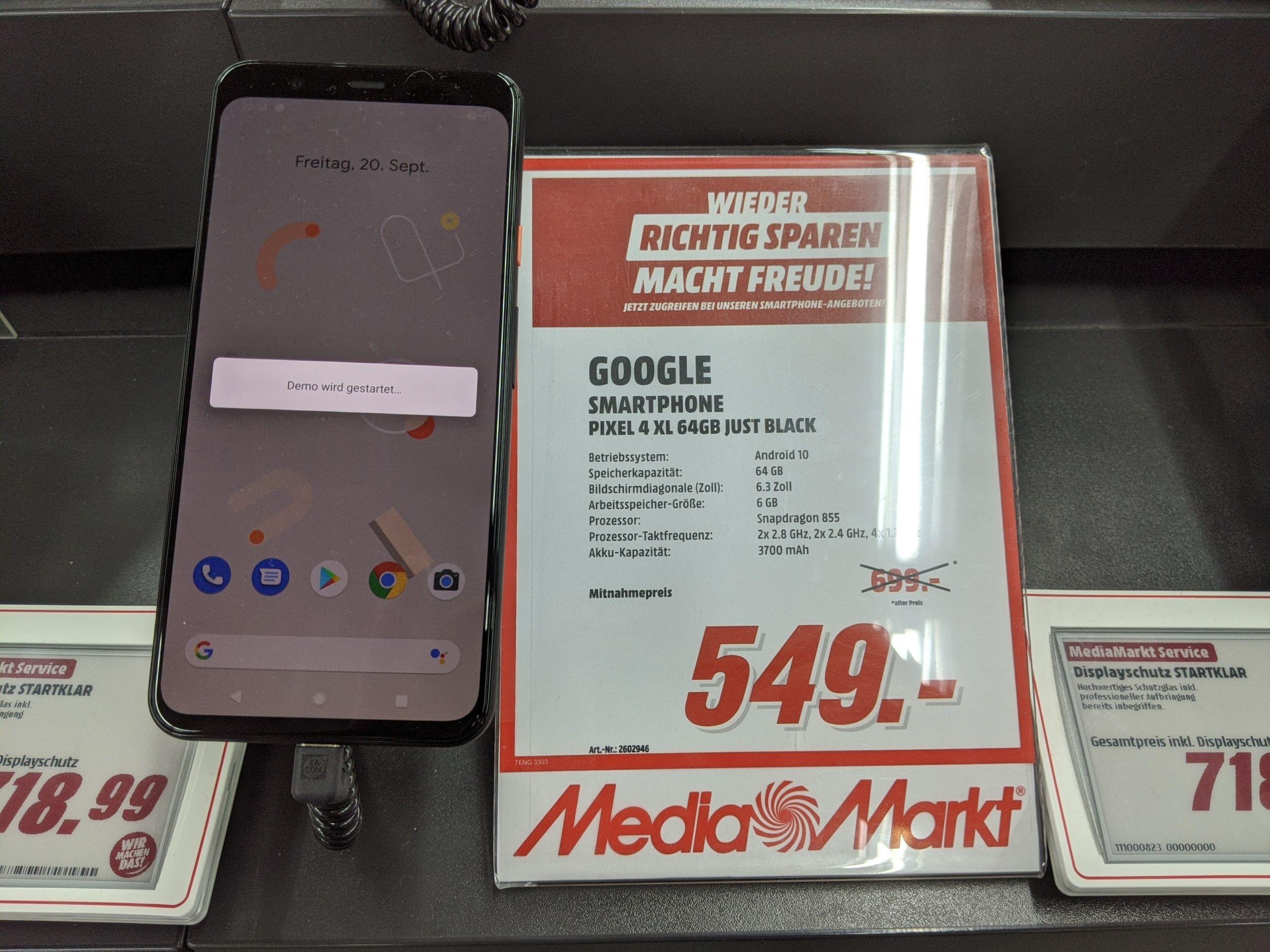Google Pixel 4 XL 64 GB Lokal Media Markt 72229 Nagold
