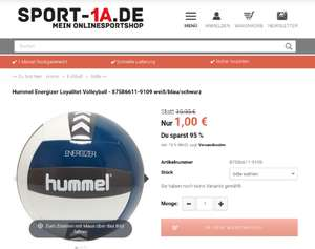 Hummel Energizer Loyalitet Volleyball - 87586611-9109 weiß/blau/schwarz