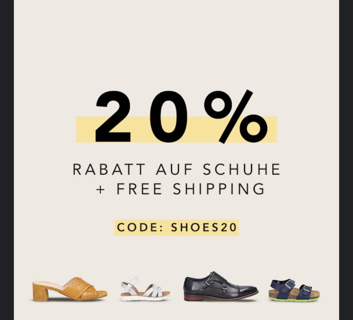-20% auf Schuhe + Gratis Versand bei BestSecret