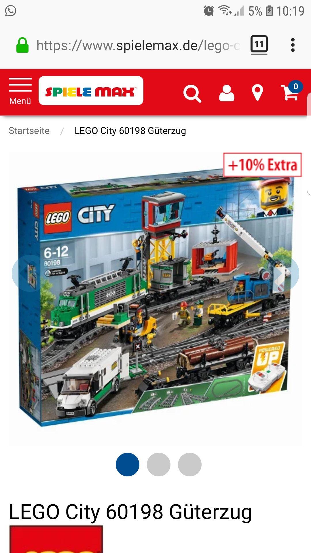 Lego 60198 für 119,98 inkl Versand bei Spielemax