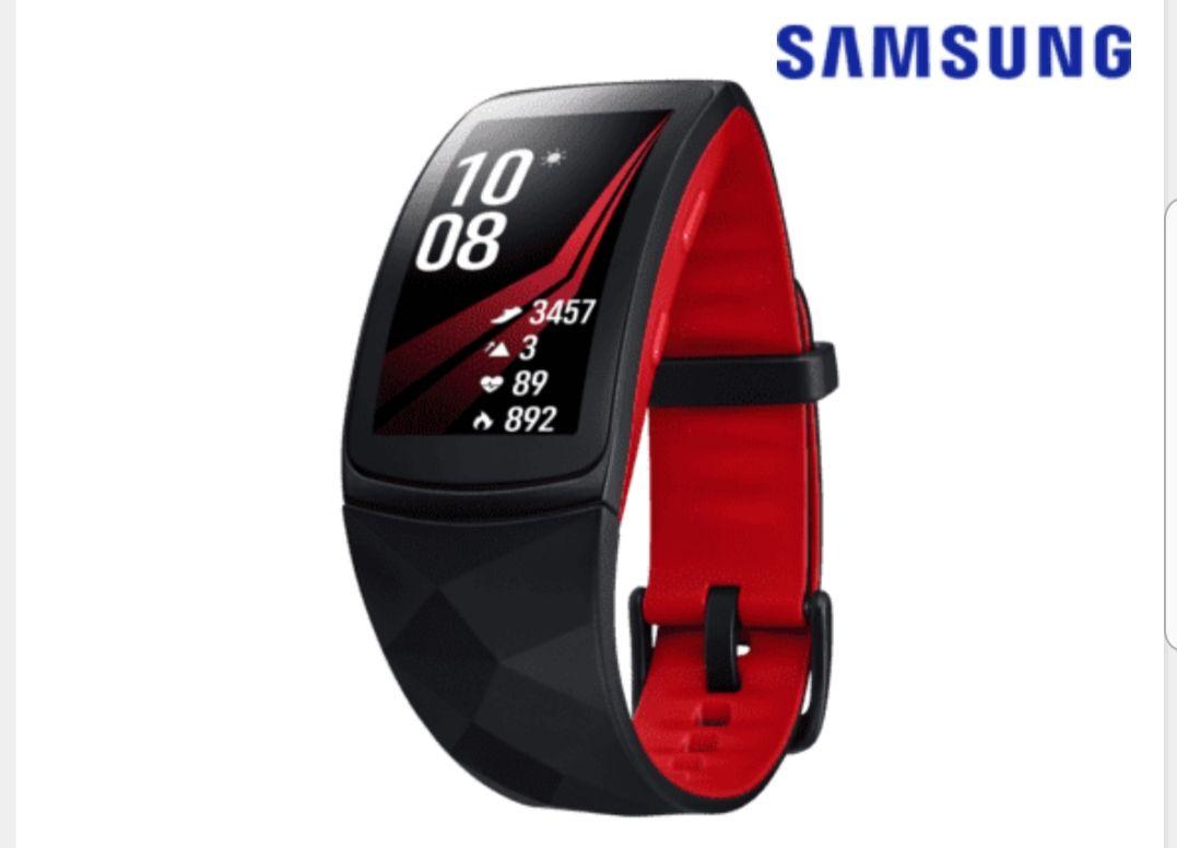[Saturn] Samsung Gear Fit 2 Pro, L, rot