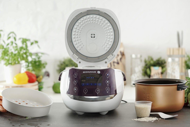 Digitaler Reiskocher von Reishunger + 3 kg Jasminreis + NL Geschenk