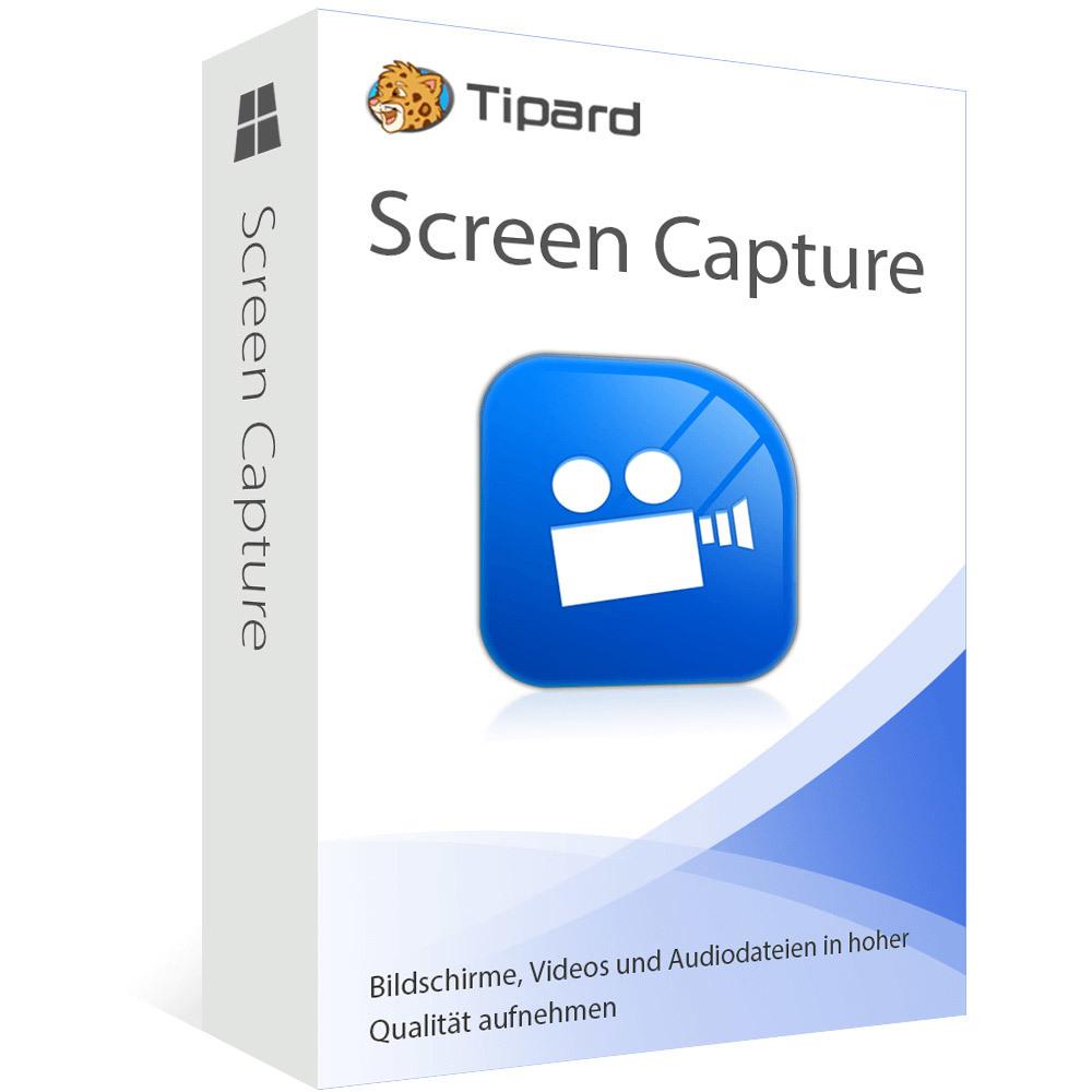 Tipard Screen Capture - gratis 1-Jahresversion zum kostenlosen Download