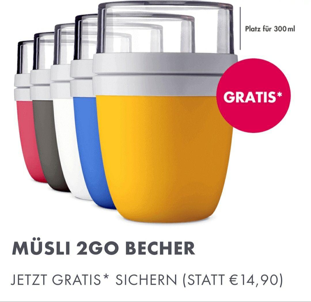 Mymuesli bei 15€ Mbw gibt es einen gratis 2GO Becher