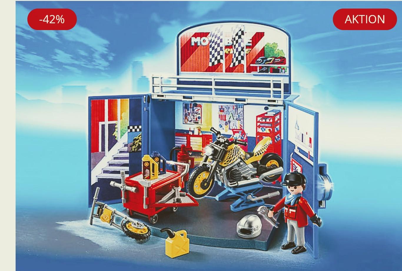 Playmobil Motorradwerkstatt zum Aufklappen