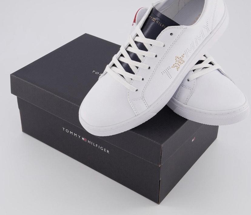 Tommy Hilfiger Star Metallic Sneaker Red White Blue 90%