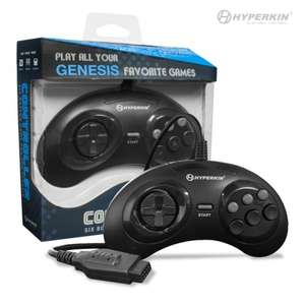 Hyperkin GN6 Sega Mega Drive / Genesis Controller (D-Pad, 6 Aktionstasten, 1.8m Kabel)