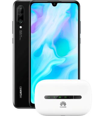 Huawei P30 Lite 128 GB + Hotspot Huawei E5330 im Blau Allnet L 5GB LTE für 13,99€ monatlich und 13€ einmalig; 40€ Cashback