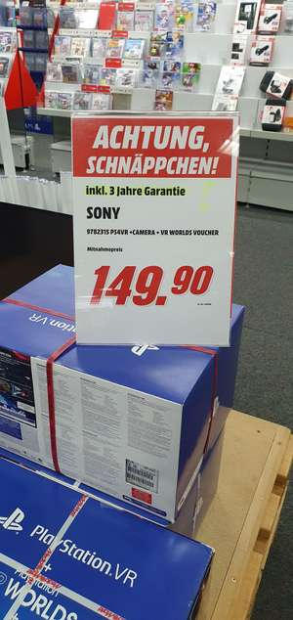 Lokal Media Markt Aschaffenburg - Playstation VR mit 3 Jahre Garantie