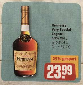 Hennessy Very Special Cognac 0,7L 40% ab 15.06. [REWE]