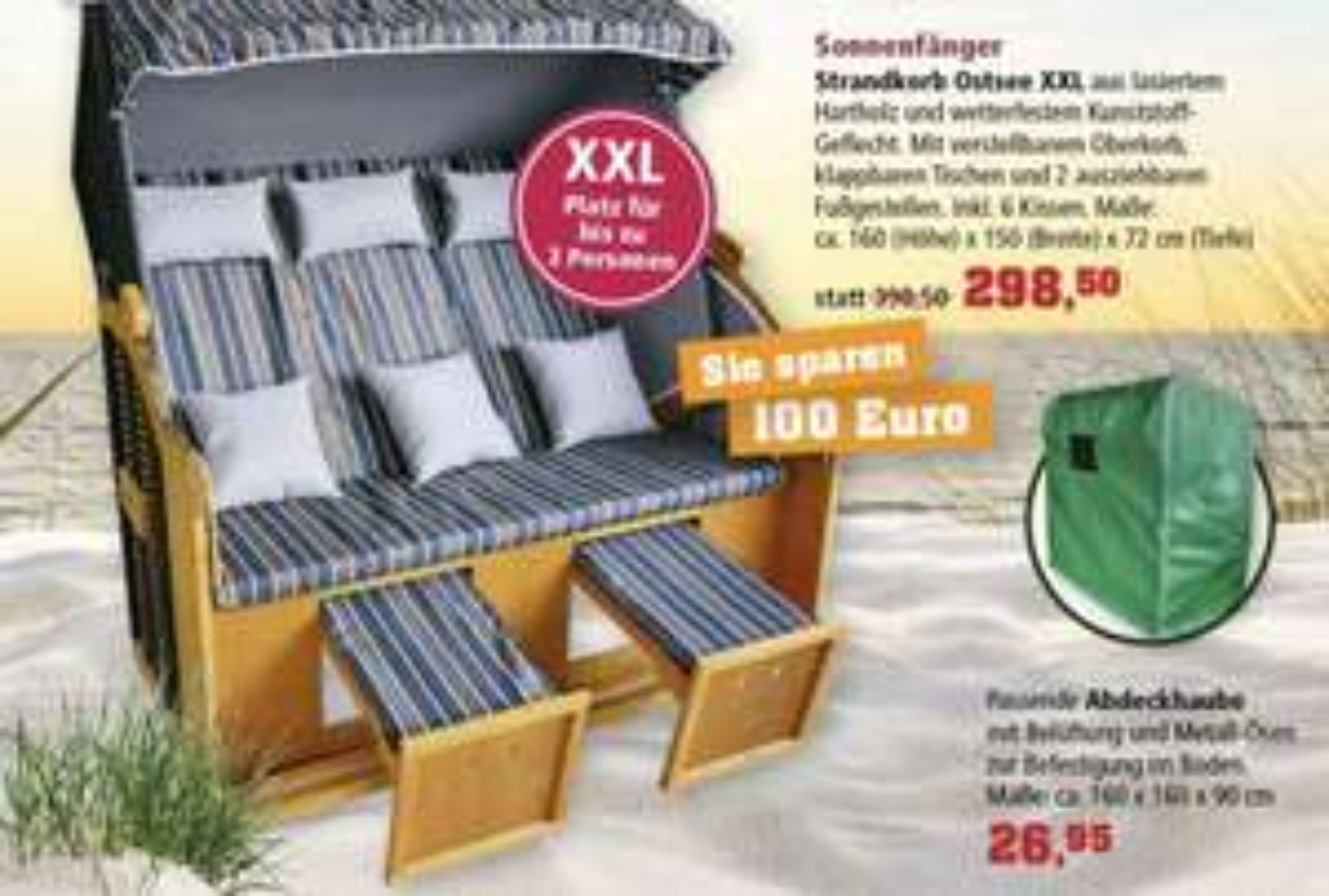 Thomas Philipps Sonderposten Strandkorb Ostsee XXL 298,50€ statt 398,50€