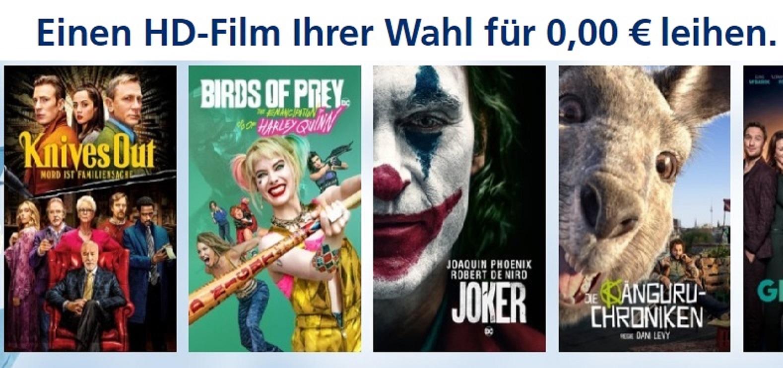 1 Film gratis leihen in Full HD bei o2 Movies aus dem kompletten Sortiment (für o2 Kunden)