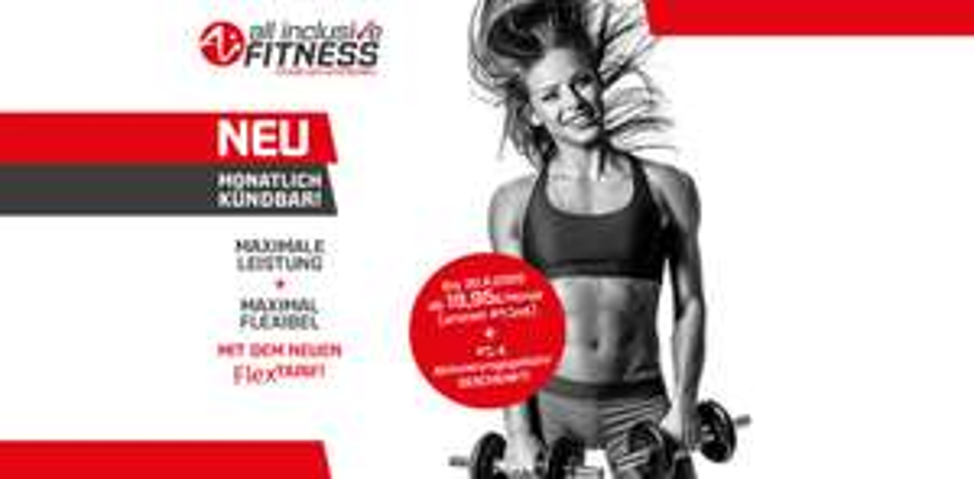 All Inclusive (AI) Fitness Flex-Tarif ohne Aktivierungsgebühr   Monatlich kündbar
