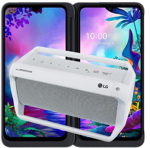 Smartphone-Sammeldeal: z.B. LG G8X Thinq Dual Screen + Bluetooth-Lautsprecher LG Xboom PK5W - 509€   Xiaomi Redmi Note 9 - 159€
