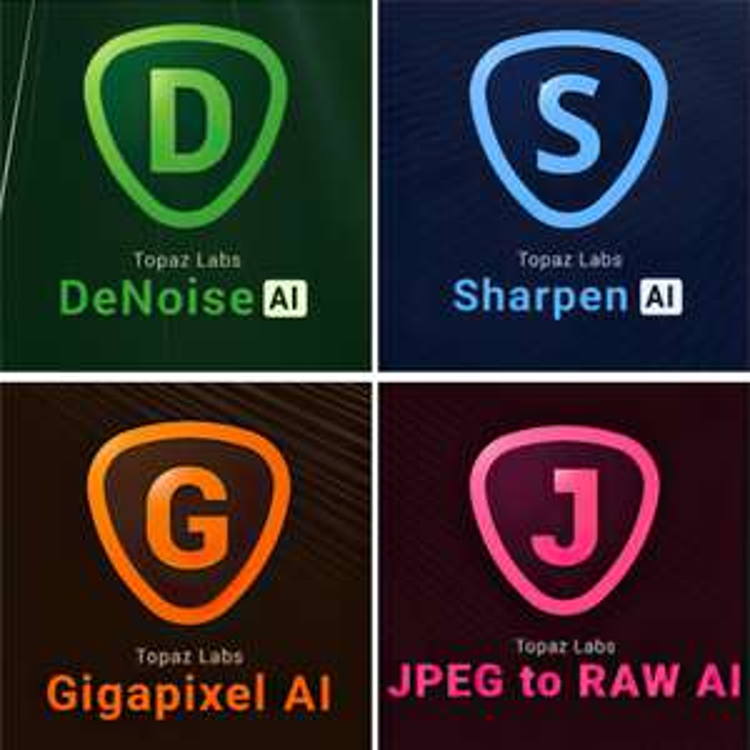 [Nischendeal] Topaz Labs Bildbearbeitung AI Bundle (Gigapixel AI, DeNoise AI...)
